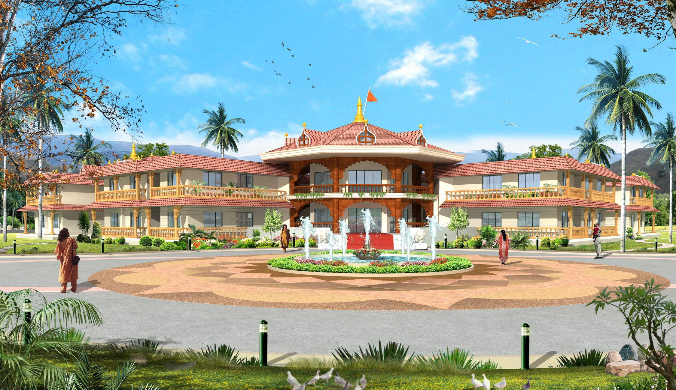 Conceptual Drawings of Guest Houses at VSV