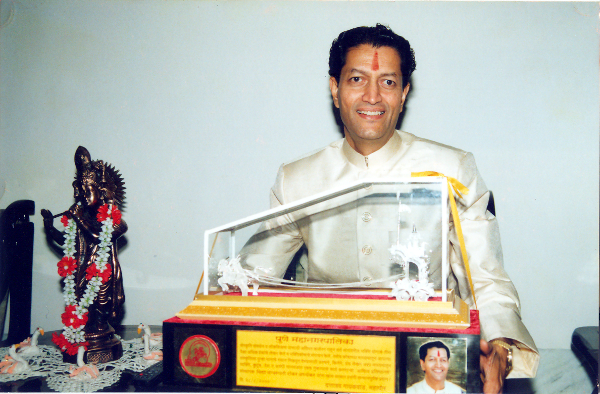 Felicitated by Pune Municipal Corporation for outstanding contribution to Indian Culture - 27-8-2000