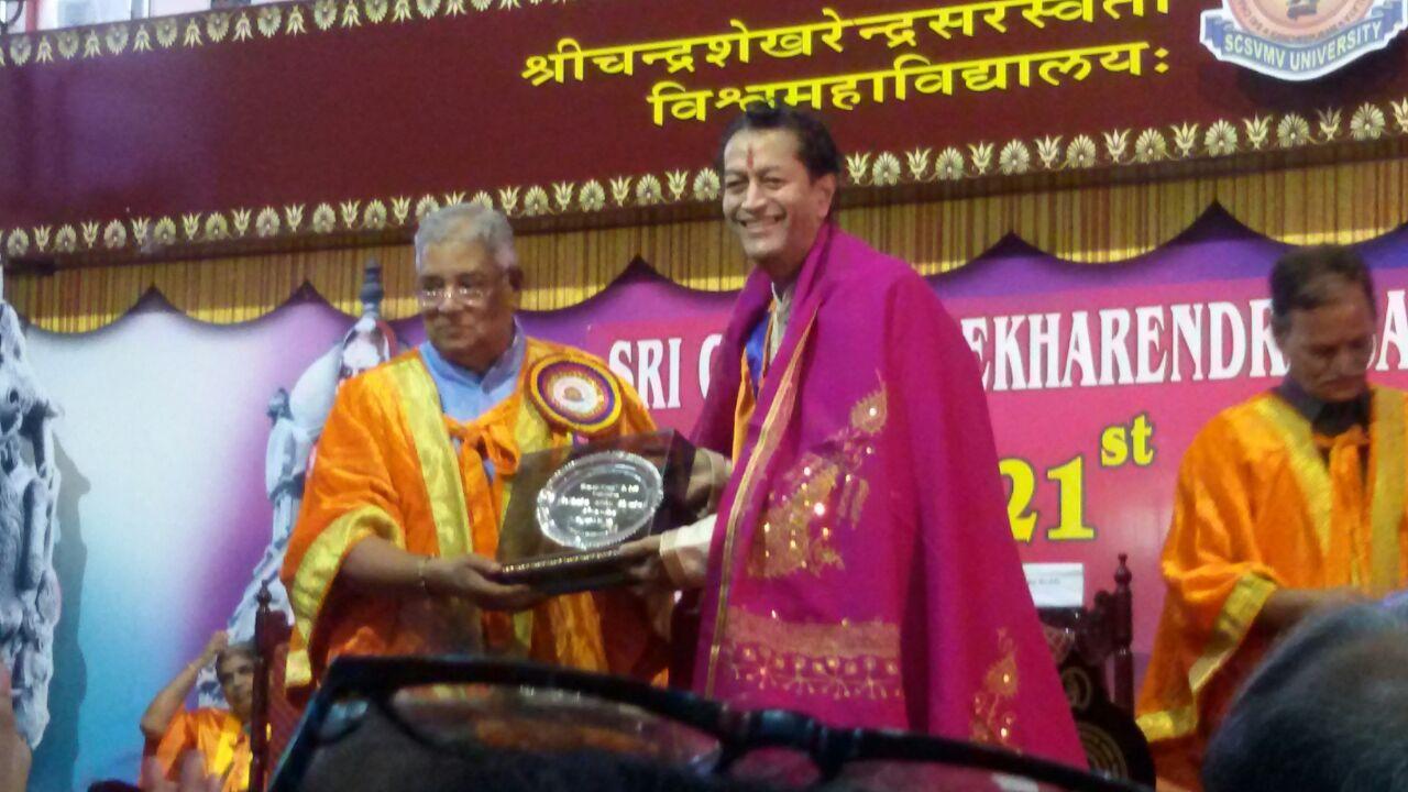 D. Litt. by Sri Chandrasekharendra Saraswati Viswa Mahavidyalaya, Kanchipuram (Nov. 18, 2017)